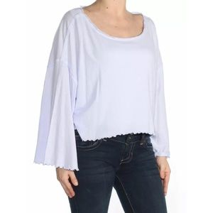 We The Free NWT Lilac Lettuce Trim Blouse Size M